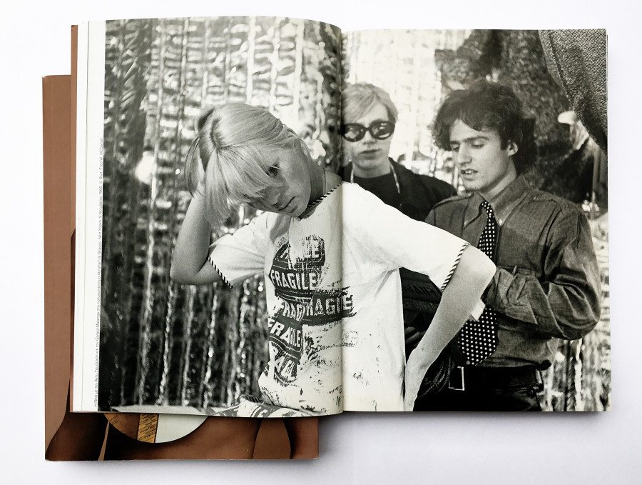 Nico with Andy Warhol and Malanga. Abraham & Straus. NY 9-11-1966. © Photo - Fred W. McDarrah. From the RRRIIPP!! Paper Fashion catalogue (2007) p. 24-25