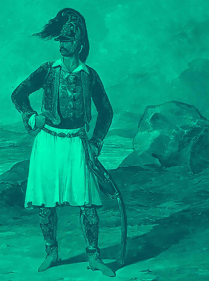 Richard_Church_Greek_Light_Infantry_of_the_Duke_of_York_1813_by_Denis_Dighton_Edited_